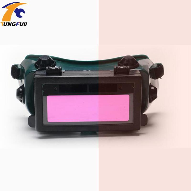 Tukang las listrik surya cahaya perubahan otomatis kacamata argon arc  welding maskHelmet Topi tukang las c6454709a9