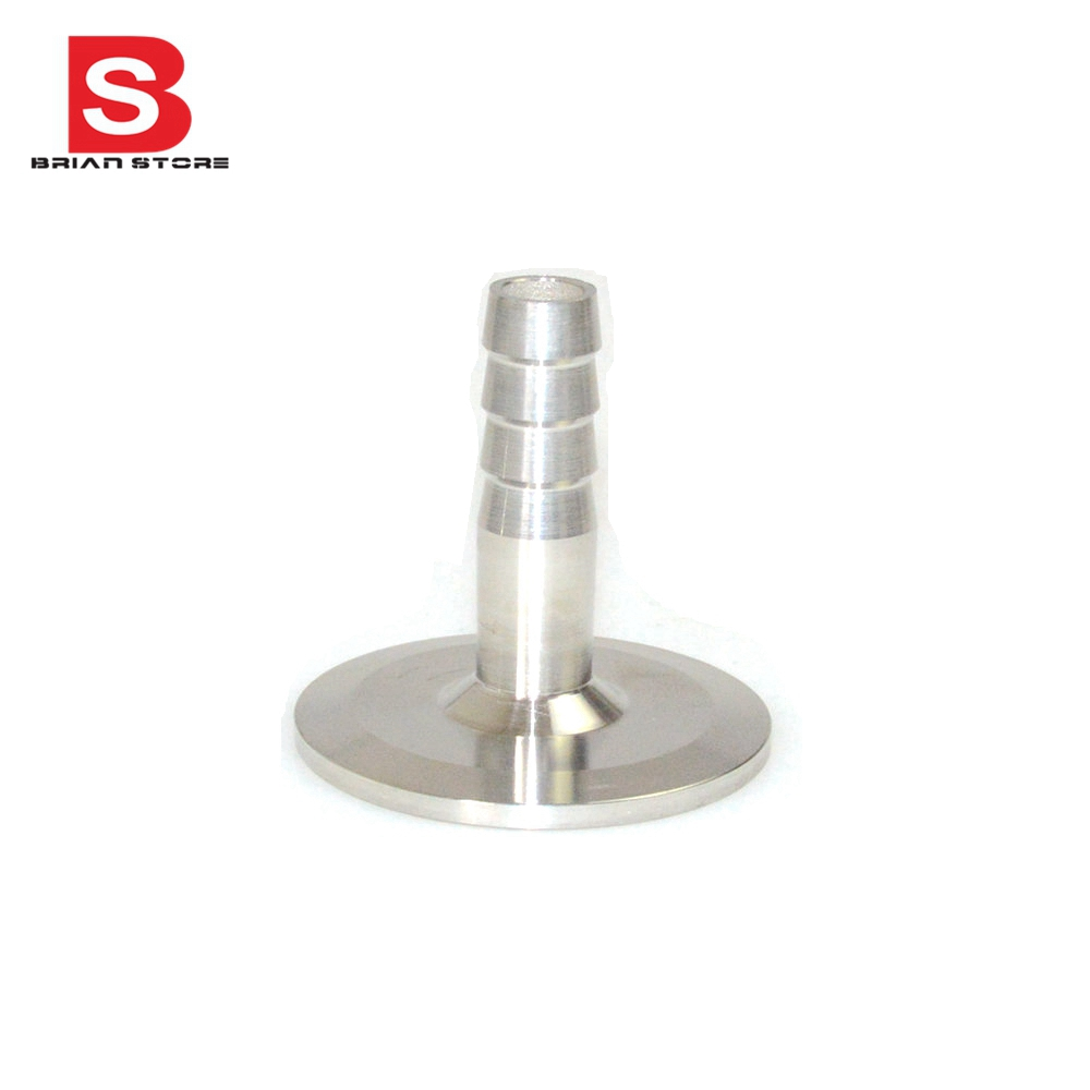 """2/"""" Sanitary Hose Barb Pipe Fitting SUS SS 316 Tri Clamp Type 64MM Ferrule"""