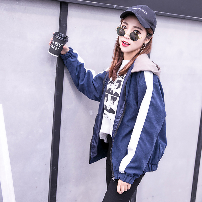 2019 Autumn Jacket Womens Streetwear Patchwork Hooded Totoro Jackets Kawaii Basic Coats harajuku Outerwear chaqueta mujer 43