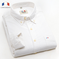 2015 New 100 Cotton Mens Long Sleeved Slim Fit Dress Shirts Men Stylish Fashion Cat Kitty