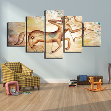 High Quality Canvas Painting Picture Modern 5 Pieces Head Horse HD Printed Steed Archery Decoration Frame For Living Room Artic