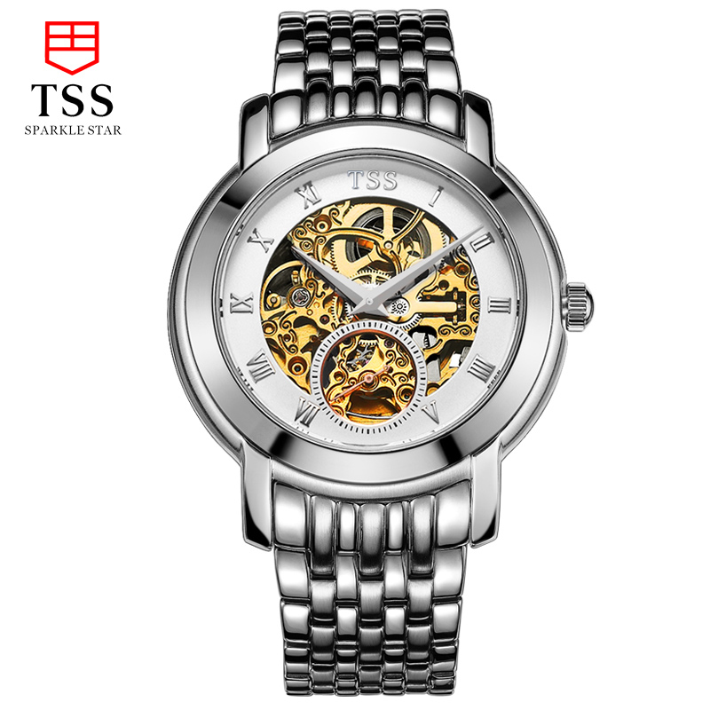 TSS mecaniques ajourees skeleton watches men luxury brand hollow automatic mechanical watch sapphire stainless steel mige luxury watch men automatic watches tourbillion hollow skeleton waterproof synthetic sapphire glass stainless steel bracelet