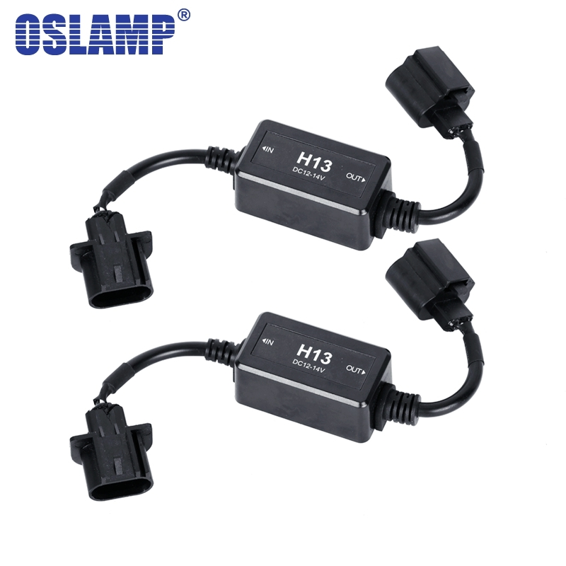US $11.68 45% OFF|Oslamp H13 Canbus Wiring Harness Adapter LED Car on