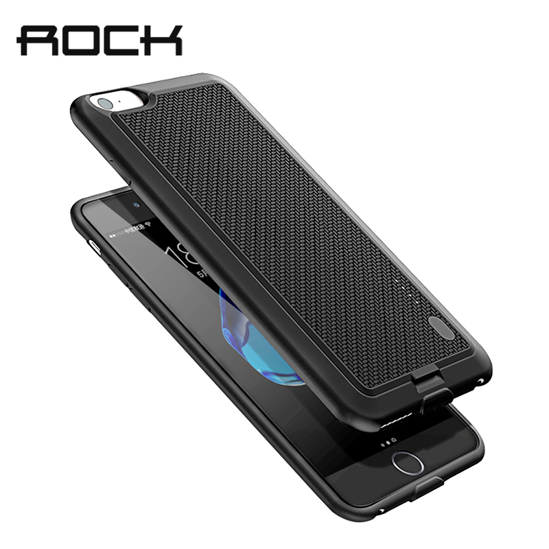 ROCK Battery Case For iPhone 7 6 Power Bank Charing Case For iPhone 6S 7 Plus 2500/3650mAh Battery Charger Back Case Cover