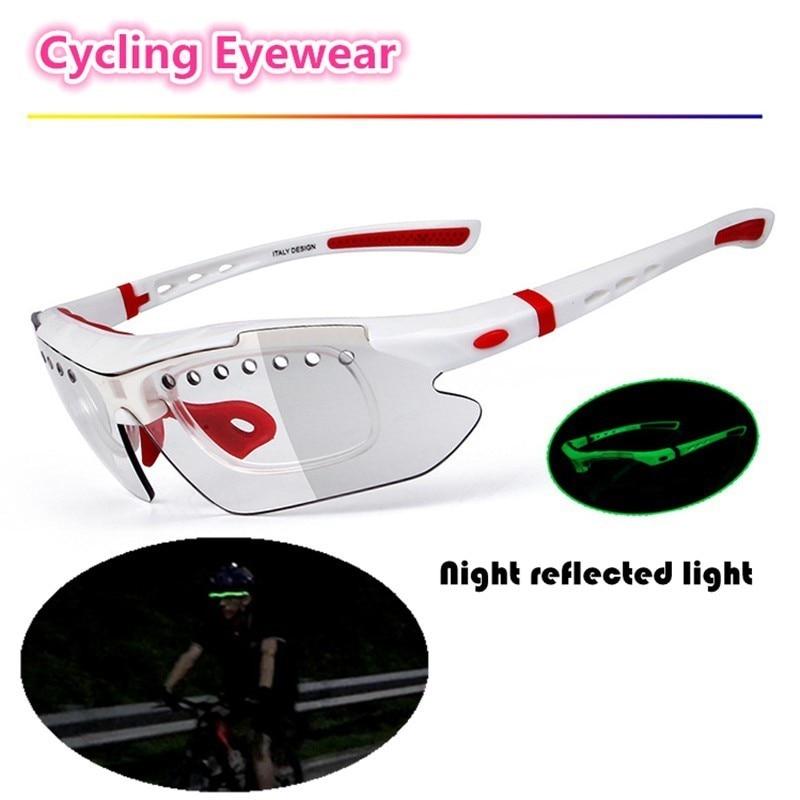 Lunettes de cyclisme lunettes lumineuses lunettes de soleil photochromiques polarisées vélo hommes femmes Vision nocturne lunettes de sport lunettes myopes