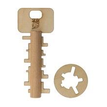 Bamboo Unlock Key Adult Educational Toys kids Intelligence Preschool Toy