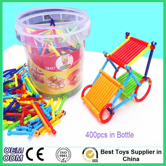 400 pcs Squigz Building Sticks Joinks Assembly Block Binding Bricks Baby  Kids Construction Educational Stacking Toy