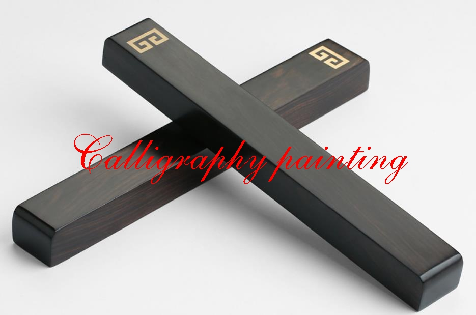 A Pair Paperweights Black Catalpa Wood  Inlay Copper Pattern Chinese Painting Calligraphy Sumi-E Tool  A Pair Paperweights Black Catalpa Wood  Inlay Copper Pattern Chinese Painting Calligraphy Sumi-E Tool