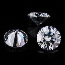 Starszuan szary 9mm wysokiej jakości okrągły Brilliant Cut całkiem 3ct Moissanite koralik Moissaite kamień dla kobiet biżuteria ustawienie tanie tanio Grzywny gray round