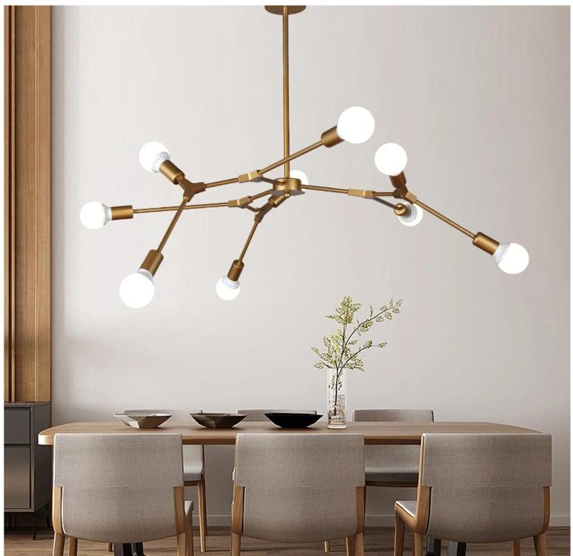 magic bean molecular foyer chandeliers tree shape creative design modern decor nordic postmodern light fixtures