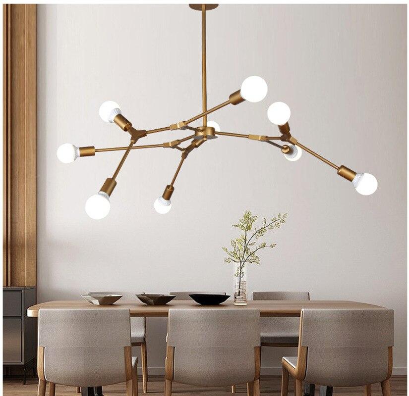 Magique haricot moléculaire Foyer lustres arbre forme Design créatif moderne décor nordique postmoderne luminaires