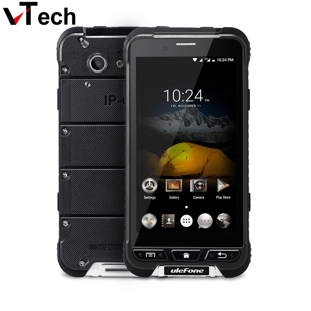 D'origine Ulefone ARMURE 4.7 pouce HD 1280x720 MTK6753 Octa Core Android 6.0 étanche ip68 Robuste téléphone 6753 3 + 32g 13MP OTA 4G