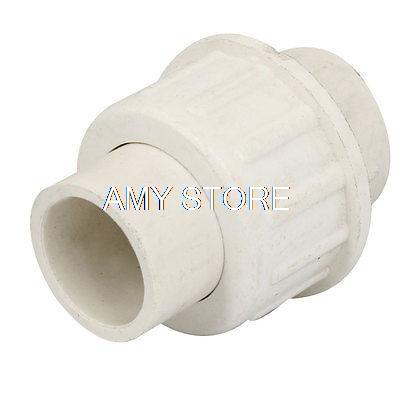 White pvc plastic pipe adapter connector coupler 20mm x for White plastic water pipe