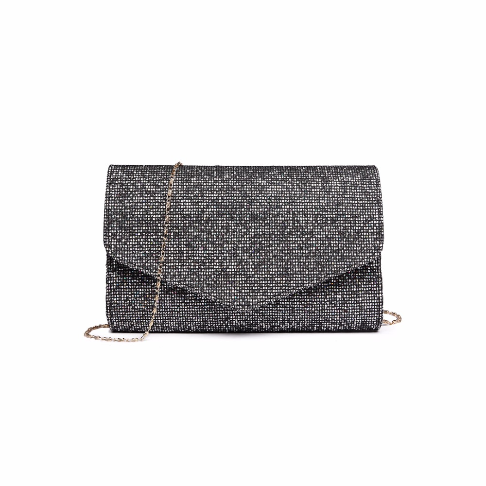 7d563f439e1 Miss Lulu Women Designer Glittering Clutch Purse Envelope Evening Party  Hand Bag Female PU Leather Chain Cross Body Bag LH1801-in Top-Handle Bags  from ...