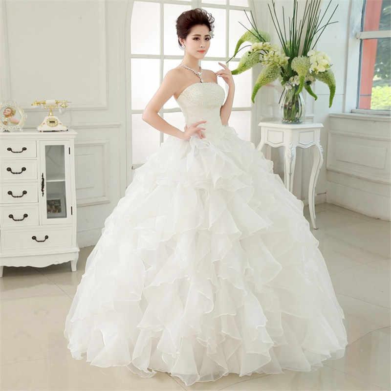 f6060236c3 Red White 2017 Robe De Mariage Princess Bling Luxury Pears White Ball Gown  Wedding Dress Custom Made Vestido De Noiva