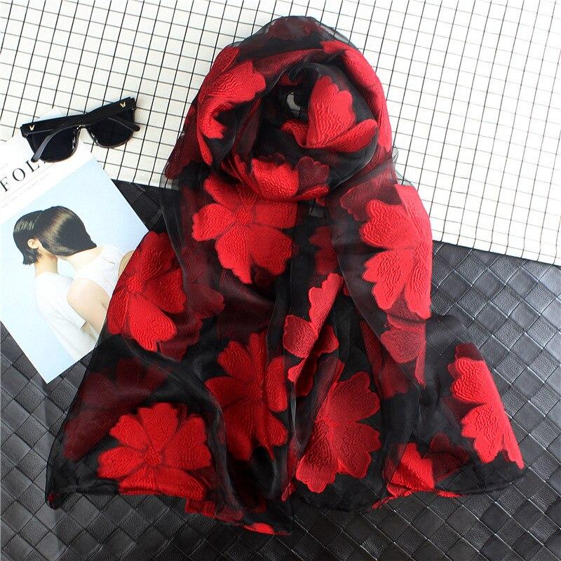 Women's   scarf   Spring Summer Light Weight Sheer Silk   Scarf   Sunscreen Organza   scarf   Summer   Wraps   S9077