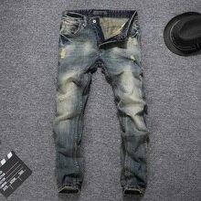 2019 Newly Fashion Men Jeans Vintage Retro Designer Slim Fit Cotton Denim Long Pants Classical Homme Brand