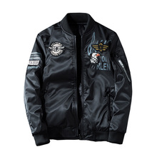 купить 2019 Man Pilot Bomber Jacket with Patches Green Both Side Wear Men Pilot Jackets Thin Male Wind Breaker Jacket Mans Coat 4XL дешево