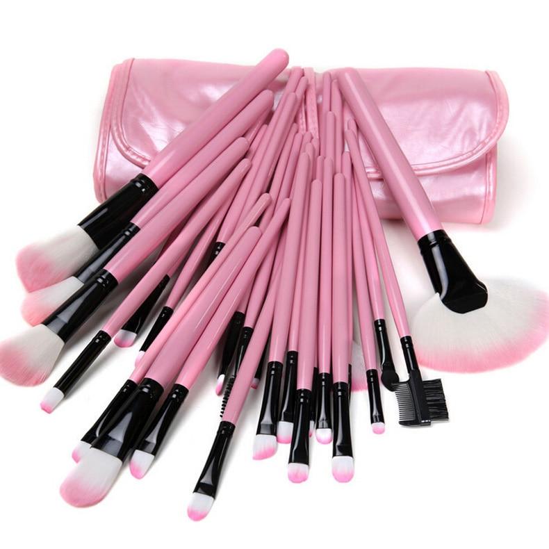 32 Pcs Pro Eyebrow Lip Eyeshadow Blusher Makeup Brushes Set Cosmetic Pink Case HS11 pro 32 статуэтка мал повар profisti parastone 869379