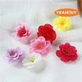100 шт. 4,5 см Искусственный симуляция имитация ткани цветок сливы цветение персика Сакура цветочные бутоны аксессуары «сделай сам»