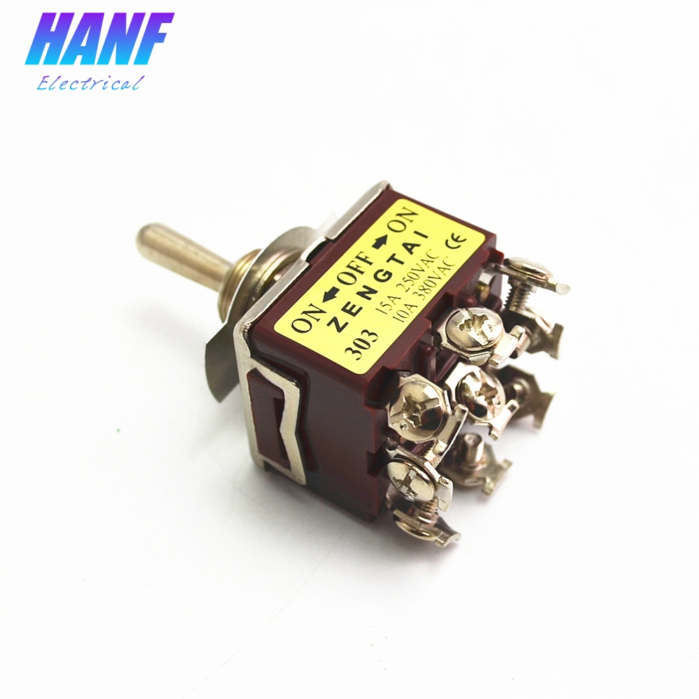1pcs Toggle Switch And Rocker 2 Positions On 9 Pins 3pdt Wiring Diagram Off 3 Screws Self Lock