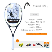 NEW HEAD tennis racket high quality Carbon Aluminum Alloy tennis racket tenis Racket / Racquet Grip: 4 1/2 Big-hand Man