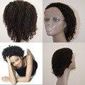De alta qualidade 8A grau Mongolian virgem cabelo afro kinky curly 4a 4b 4c do laço do cabelo humano frente peruca cheia do laço peruca U parte peruca