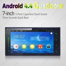 7 pulgadas Ultra Delgado del Androide 4.4.2 Quad Core Reproductor Multimedia Del Coche Con GPS Navi de Radio Para Toyota Universal 2DIN RAV4/Corolla/HILUX