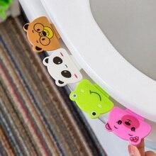 1PCS Cute Little Colored Animals Toilet Lid Device Portable Handle Bathroom Cover Stick Accessories