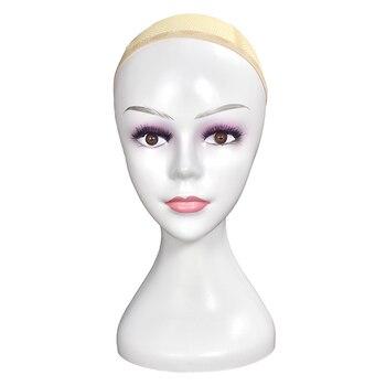 Female Plastic Mannequin Manikin Head Model Wig Hair Glasses Display Stand