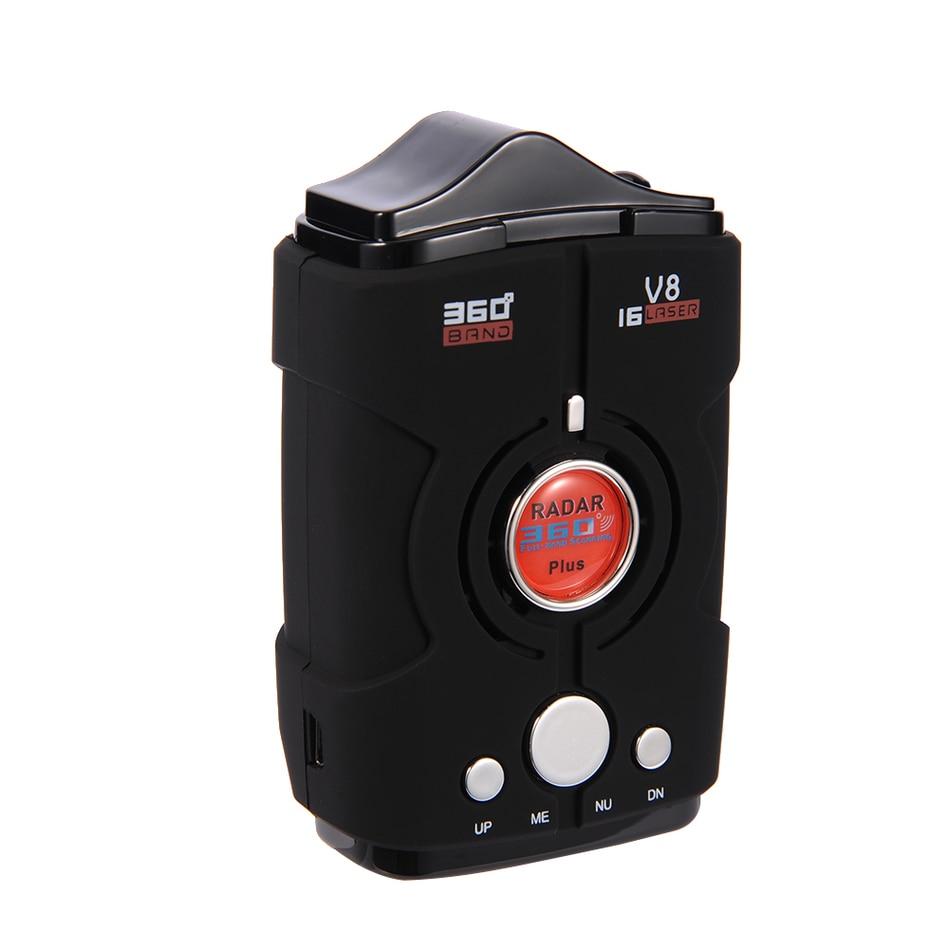 imágenes para V8 de 360 Grados Del Coche Detector de Radar 16 Banda de Rusia/Inglés versión Pantalla LED de Anti Radar Detector XK NK Ku Ka Laser seguridad