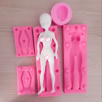 PRZY HOTSALE mold turning model body chest doll body mold food grade silicone mold female with head
