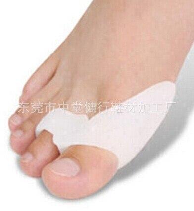цена 2Pcs Silicone Gel Bunion Splint Big Toe Separator Overlapping Spreader Protection Corrector Hallux Valgus Foot Massager