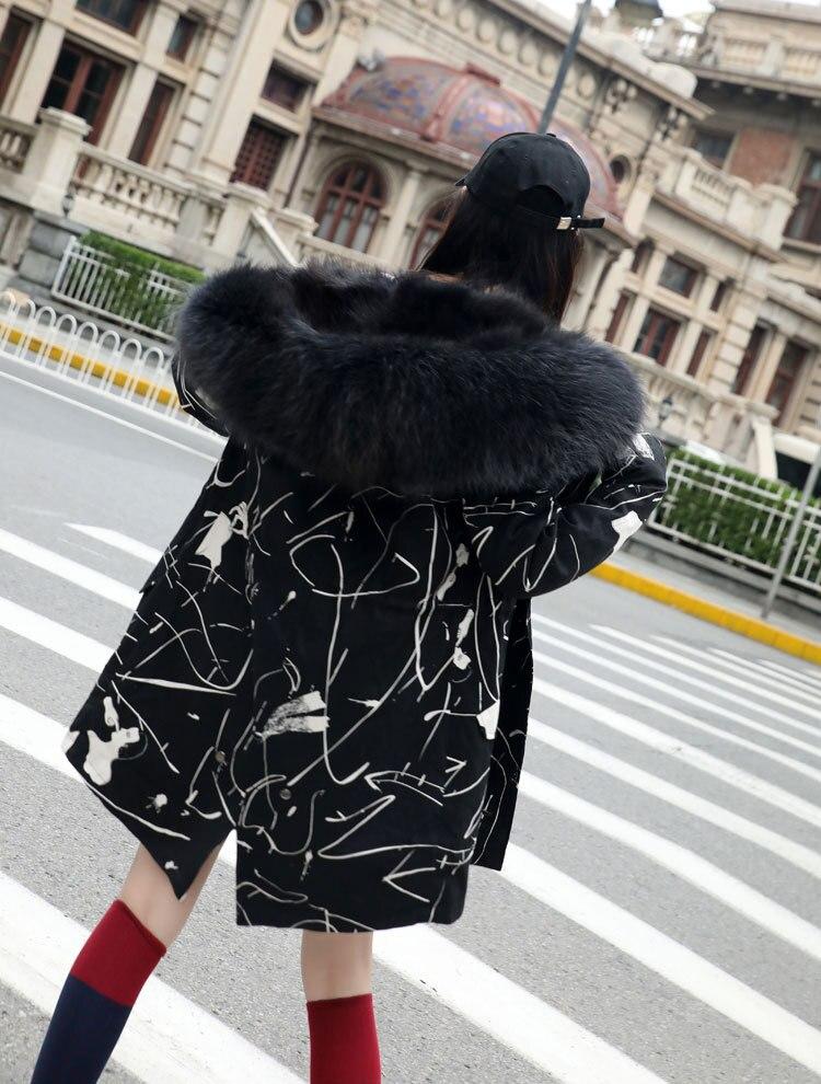 À Mode 3 Nouvelles 4 5 2018 Capuchon 2 Hiver Grande Femmes Parkas Collier De Doublure Renard En Veste Raton 1 Chaud 6 Fourrure Manteau Luxe Long Laveur SgOwxYqO