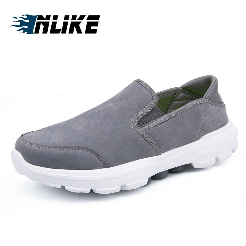 Hommes Inlike Homme En bleu Chics Loisirs Chaussures Pour Mode Cuir Plates Légères Noir De gris Respirant j3AR4L5q