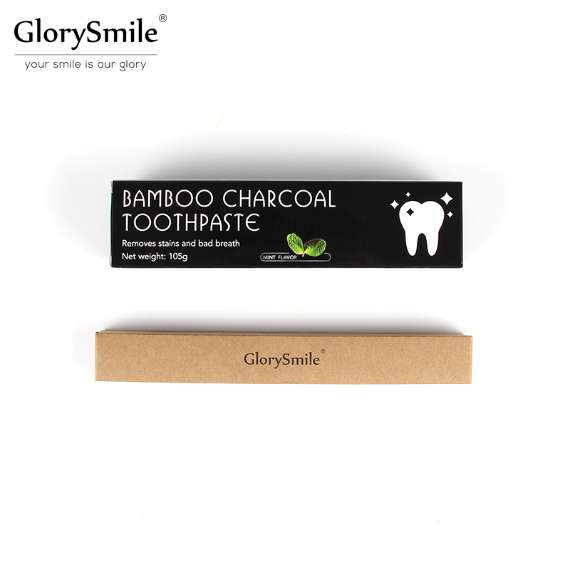 Travel whitening kit 100% Natural Mint Flavor Bamboo Charcoal Toothpaste 105g and Bamboo Toothbrush Oral Hygiene Remove stains