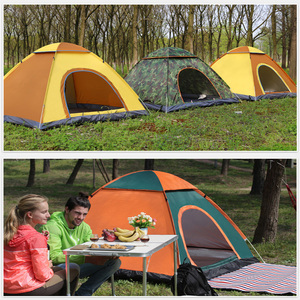Image 5 - Tents Outdoor Camping Portable Waterproof Hiking Tent Anti UV 2/4Person Folding Pop Up Automatic Open Sun Shade Ultralight Tent