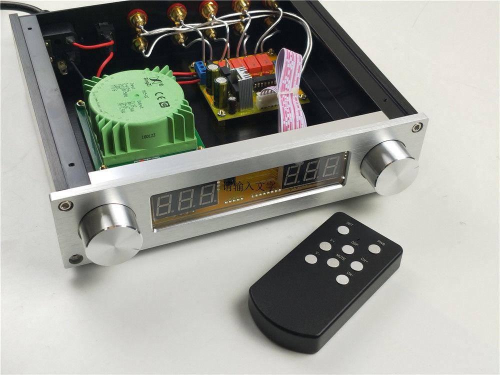 Hi-end PGA2311 Remote Volume Control Preamplifier Stereo Preamp HIFI Audio Free Shipping