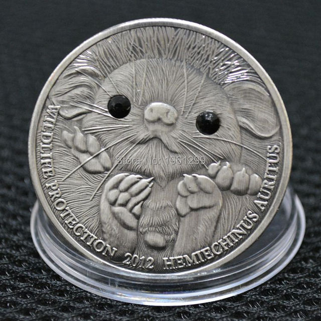 Sample coin! 500 Togrog Mongolia Coins 2012 LONG EARED HEDGEHOG Wildlife  Protection Silver Coin 2pcs. 1 order 44c43440317b
