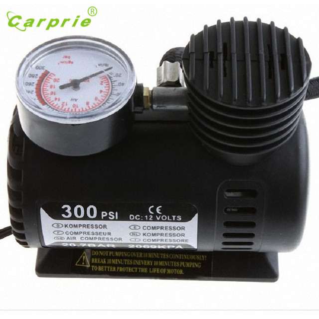 Tiptop New Portable 12V Auto Electric Air Compressor Tire Inflator Pump 300 PSI for Car Motorcycle SEP29