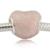 Serve para pandora pulseiras arco rosa e encantos do coração do laço Rosa com Rosa Esmalte Macio 100% Grânulos de Prata Esterlina Livre grátis