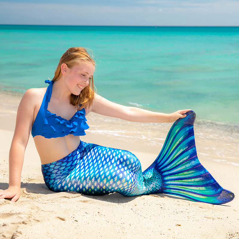 Mermaid Tails For Swimming Adult Kids Cosplay Costume Mermaid Tail Swimsuit Childen Girl Women Clothes No Monofin C28105CH
