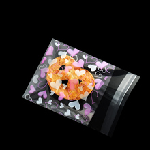 100pcs/lot 7*10cm Self-adhesive Cookie Bags Wedding Party Gift Candy Bag Birthday Decoration Biscuits Packaging Plastic