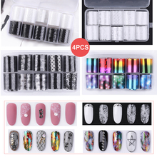 40 Rolls Nail Transfer Sticker Tips Wraps Transfer Glitters Metal Color Starry Paper Foil Wraps Adhesive Decals Nail Art Decorat цена и фото