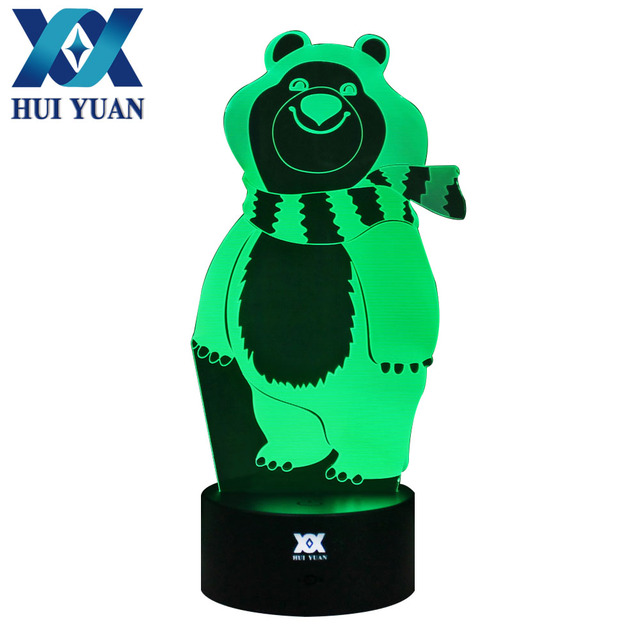 Hui Yuans Polaire Ours Creative Illusion 3d Lampe Led Night Lights