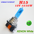 H15 Halogen Lamp 12V 15/55W 5000K Super White Dark Blue Glass Auto Headlights Car Bulb