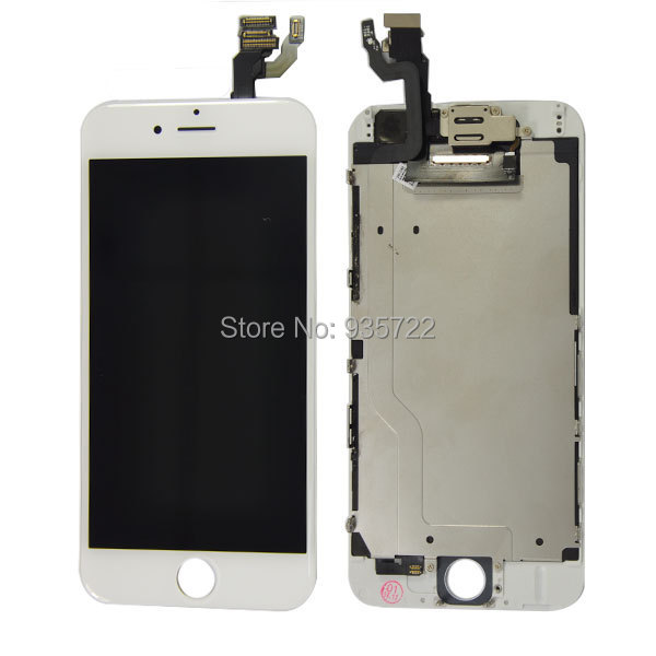 2014 New Arrival For iphone 6 4.7Full Front LCD Display Touch Screen Digitizer Assembly with small parts