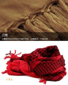 Image 5 - 綿 100% 厚いアラブスカーフ男性の冬の軍事 Keffiyeh 防風スカーフイスラム教徒ヒジャーブ Shemagh タクティカル砂漠正方形ウォーゲーム