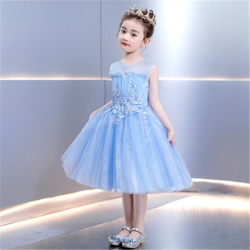 2019 New Todder Girls Mesh Embroidery Tutu Princess Dress Kids Dresses For Girls Birthday Party Baby Girl Clothes Vestidos L274