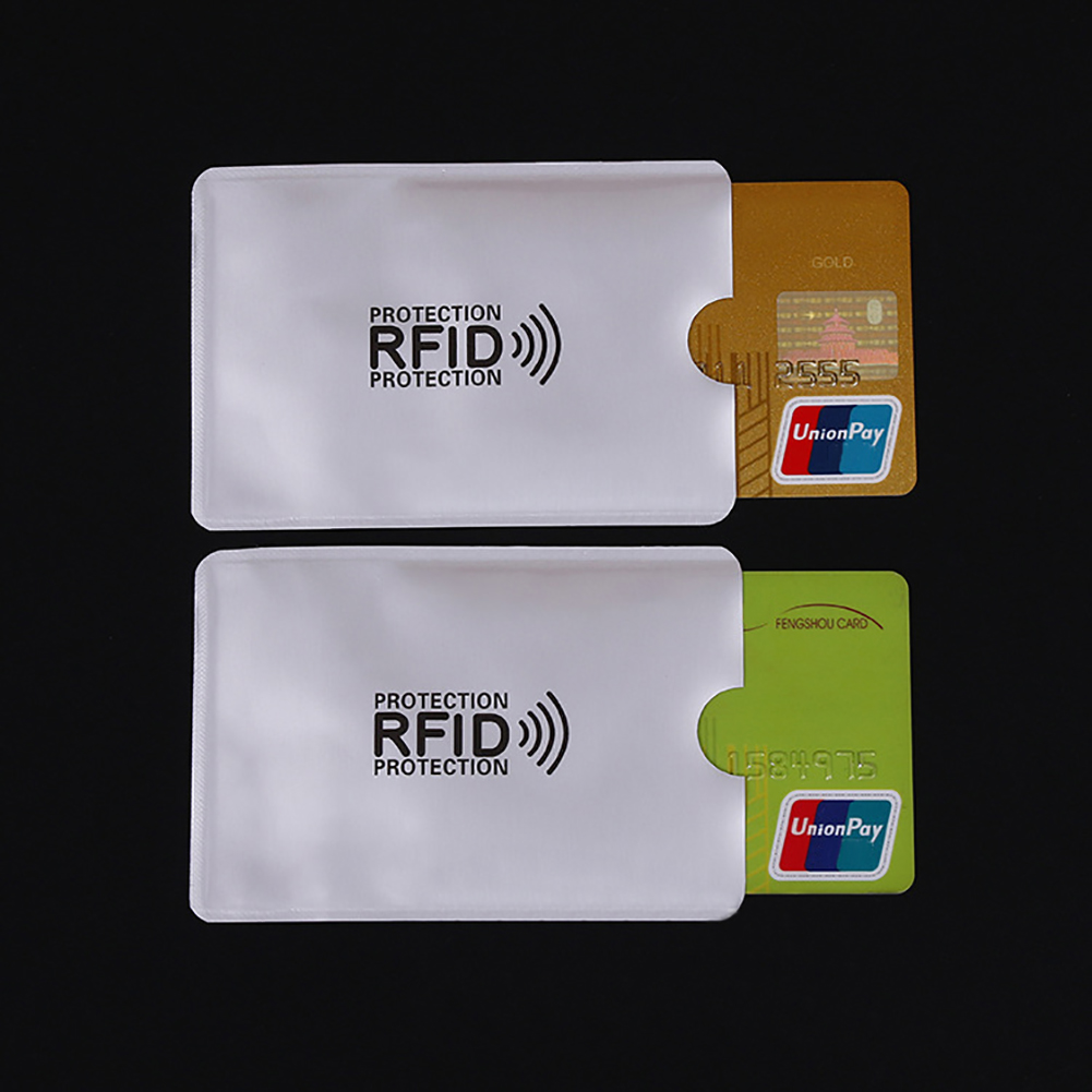 10Pcs Portable Anti Rfid Card Holder Anti-magnetic Phone Pocket Rfid Protector Credit Bank Card Holder Aluminium Pasjes Houder